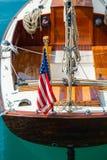 Rocznika żeglowania łódź Fotografia Stock