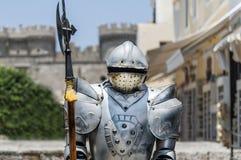Rocznika żelaza rycerz z cioską zdjęcie stock