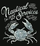 Rocznika żołnierza piechoty morskiej nautyczne usługowe dostawy Fotografia Royalty Free