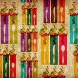 Rocznika abstrakcjonistyczny karmowy tło Zdjęcie Royalty Free
