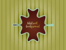 Rocznika abstrakta stylowe etykietki na zielonym tle Obrazy Royalty Free