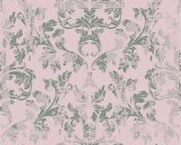 Rocznika adamaszka wzoru ornamentu Wektorowy wystrój Barokowe grunge tła tekstury Królewskiego wiktoriański modni projekty Zdjęcie Royalty Free