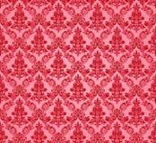 Rocznika adamaszkowy bezszwowy tło Kwiecisty motywu wzór Obraz Stock