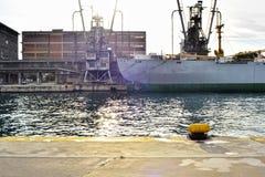 Rocznika ładunku naczynie przy dokiem Obraz Royalty Free
