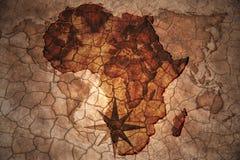 Rocznika Afryka mapa Fotografia Royalty Free