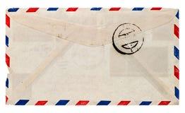 Rocznika airmail koperta. retro poczta list obrazy royalty free