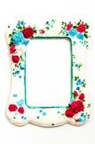 Rocznika alabaster rama na białym tle Fotografia Royalty Free