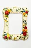 Rocznika alabaster rama na białym tle Obraz Royalty Free