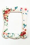 Rocznika alabaster rama odizolowywająca na białym tle Fotografia Royalty Free
