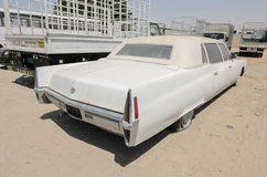 Rocznika amerykanina Cadillac Fleetwood limuzyna Zdjęcia Royalty Free