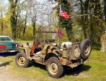 Rocznika amerykanina pojazd wojskowy Zdjęcie Royalty Free