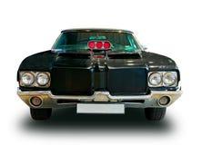 Rocznika amerykanina samochód Biały tło zdjęcia royalty free