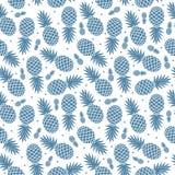 Rocznika ananas bezszwowy Zdjęcia Stock