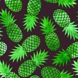 Rocznika ananasowy bezszwowy wzór Obrazy Royalty Free