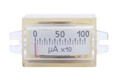 Rocznika antyczna ampermeter skala odizolowywająca Fotografia Royalty Free