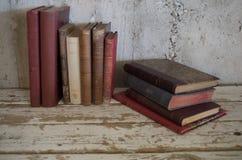 Rocznika antyka stare książki zdjęcie stock