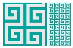 Rocznika antykwarski bezszwowy projekt deseniuje płytki w Wektorowej ilustraci Obraz Royalty Free