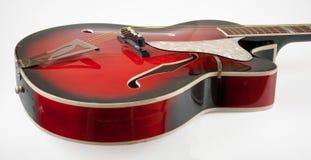 Rocznika archtop czerwona gitara Obraz Royalty Free