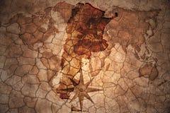 Rocznika Argentina mapa Obrazy Stock