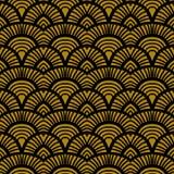 Rocznika art deco ręka rysujący wzór Obrazy Stock