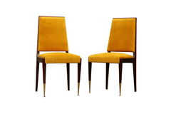 Rocznika art deco stylu luksusowy krzesło odizolowywający Zdjęcie Stock