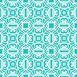 Rocznika art deco wektorowy wzór w aqua błękicie Obrazy Royalty Free