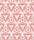 Rocznika art deco wektorowy wzór w koralowej czerwieni Obraz Stock