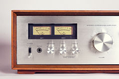 Rocznika Audio amplifikatoru VU Stereo metry Fotografia Royalty Free