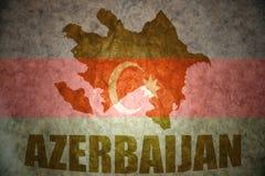 Rocznika Azerbaijan mapa Obraz Stock