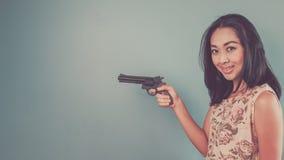 Rocznika azjata kobieta Zdjęcia Stock