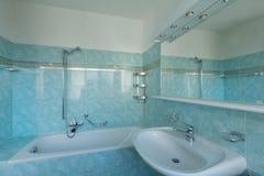 Rocznika błękita łazienka obrazy royalty free