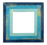 Rocznika błękita kwadrata rama Obraz Stock