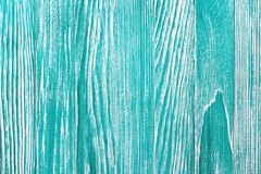 Rocznika błękitny drewniany tło z obieranie farbą Stara malująca drewno ściana - tekstura lub tło Obrazy Royalty Free