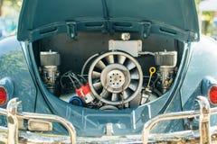 Rocznika błękitny samochodowy stary silnik Zdjęcia Royalty Free
