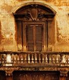 rocznika balkonowy okno Zdjęcia Stock