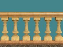 Rocznika balustradowy dekoracyjny poręcz robić drewno metal i kamień odizolowywał wysokiej jakości odpłaca się royalty ilustracja