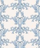 Rocznika baroku adamaszka imperiału kwiecisty deseniowy akantowy styl Wektorowy wystroju tło Luksusowy klasyczny ornament królews ilustracji