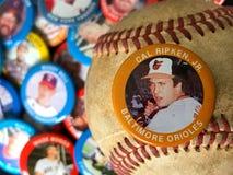 Rocznika baseballa szpilki obraz stock