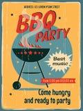 Rocznika BBQ grilla przyjęcie Zdjęcie Stock