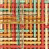 Rocznika bezszwowy wzór przetkany koronkowy faborek ilustracja wektor