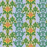 Rocznika bezszwowy wzór, sztuki nouveau ornament Obraz Stock