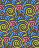 Rocznika bezszwowy wzór w jaskrawych kolorach Obraz Royalty Free