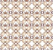 Rocznika bezszwowy wzór z złocistymi koronami Dekoracyjny ornamentu b ilustracji