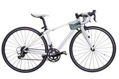 rocznika biegowy drogowy rower, biały rowerowy klasyka styl/, zmodyfikowany s zdjęcie royalty free