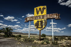 Rocznika bielidło Bros podpisuje wewnątrz Nowego - Mexico Zdjęcia Stock