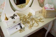 Rocznika bielu boudoir Zdjęcie Royalty Free