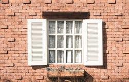 Rocznika bielu okno Zdjęcie Stock