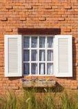 Rocznika bielu okno Obraz Stock