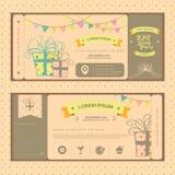Rocznika bilet dla przyjęcia urodzinowego lub innej zabawy normy Obraz Royalty Free