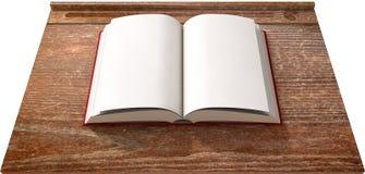 Rocznika biurko Z Otwartą książką zdjęcie royalty free